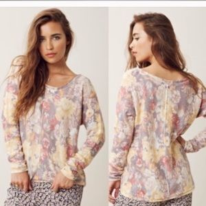 Free People Flower Bomb pullover sweater